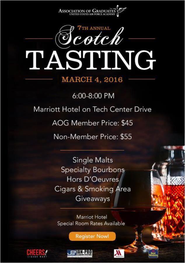 The AOG is hosting their 7th Annual Single Malt Scotch & Bourbon Tasting