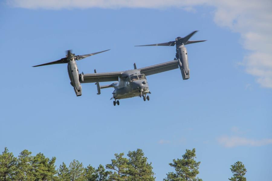 CV 22 Tiltrotor- Landing