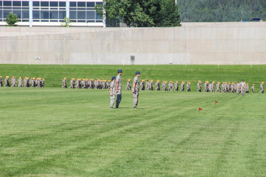 Acceptance Day Parade Practice