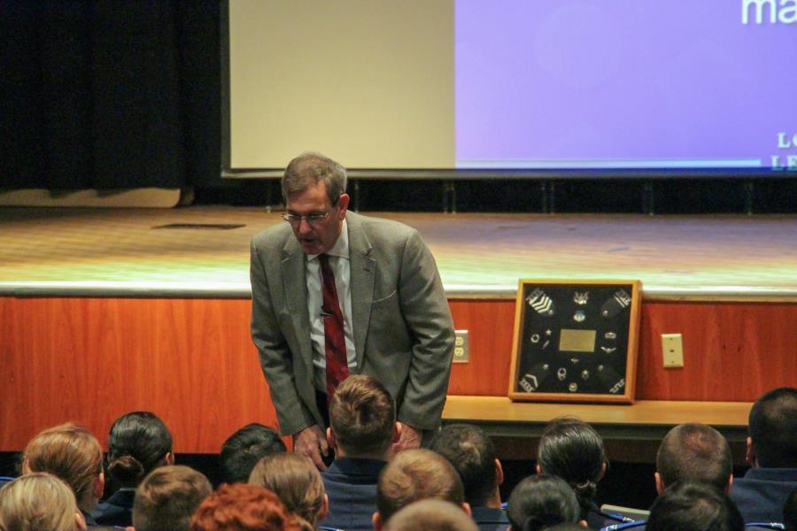Gen (Ret) Lorenz Visits the Prep School