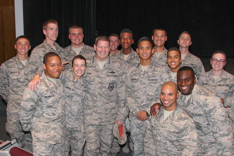 General Rand Visits The Prep School