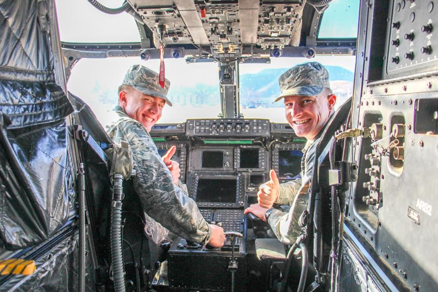 CV-22 Osprey Crew Visits The Prep School
