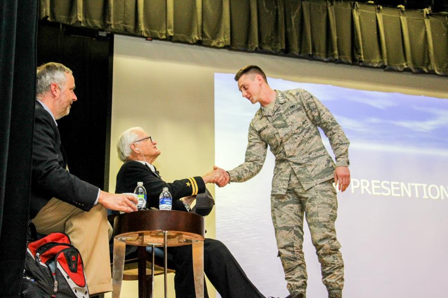 Pearl Harbor Survivor, Jim Downing - Visits The Prep School