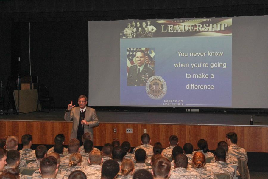 Gen (Ret) Lorenz Visits The Prep School