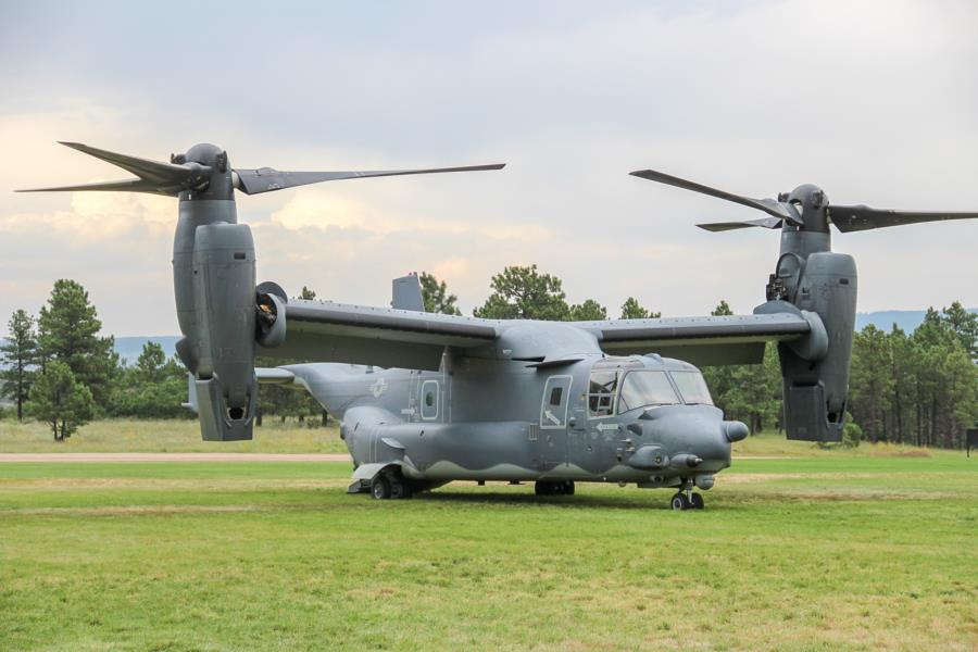 CV-22 Osprey Crew Visits The Prep School