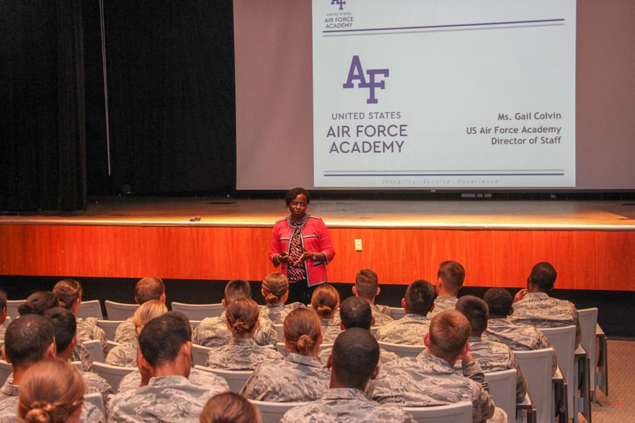 Col (Ret) Gail Colvin Visits The Prep School