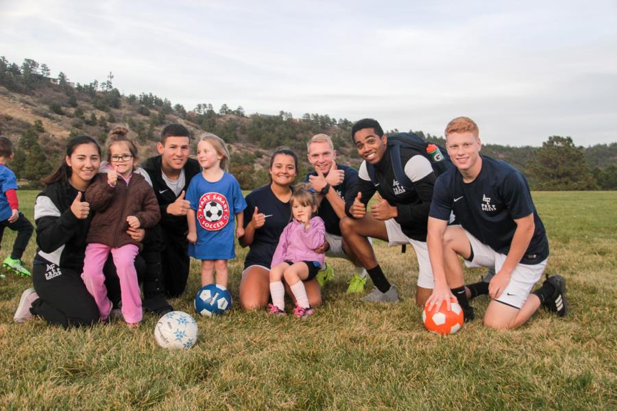 Prep Soccer Team Working With Local Youth Group