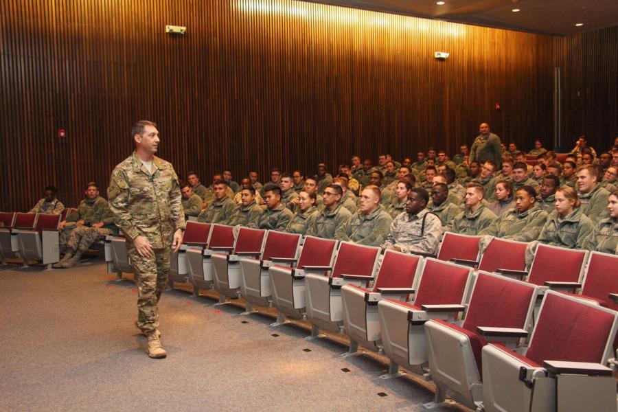 USAFA Vice Supt Col Harris Visits The Prep School
