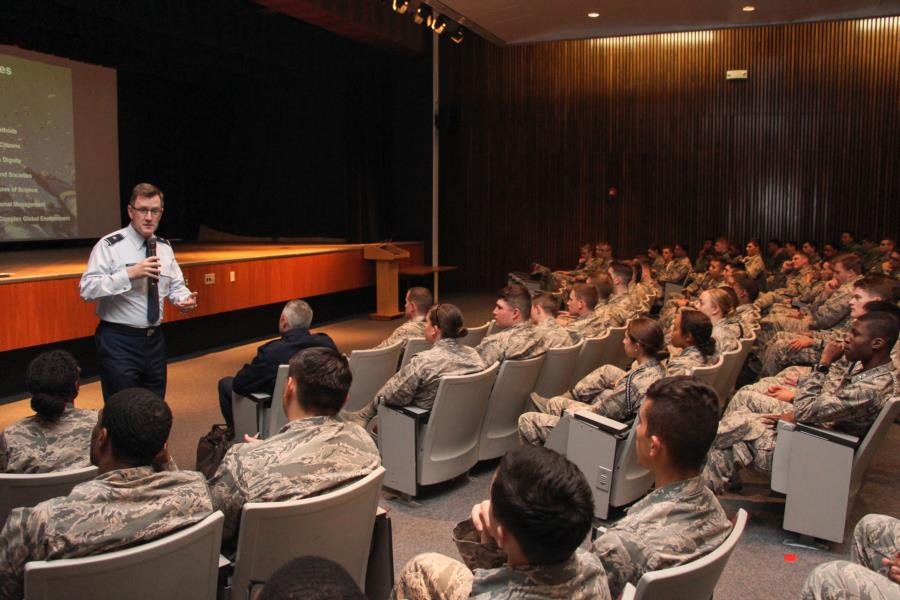 General Armacost Visits The Prep School