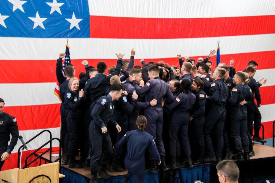 Blue Suit Ceremony