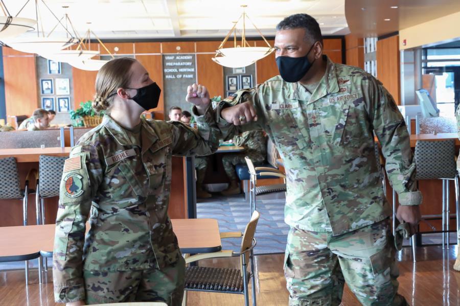 Supt.Gen Clark visits Prep School