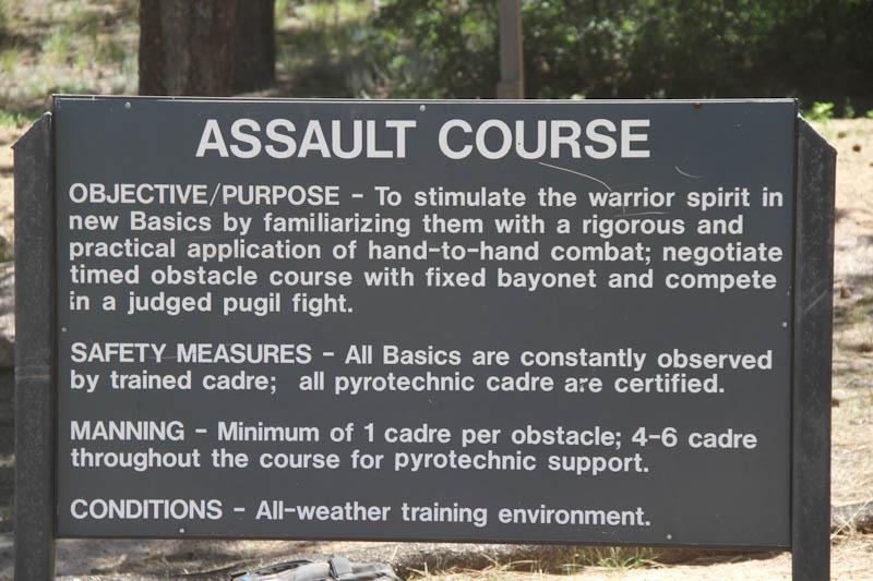 Assault Course Explanation