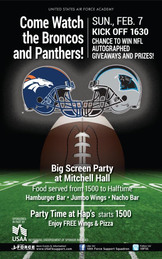 Super Bowl 50 Big Screen Party For Cadets