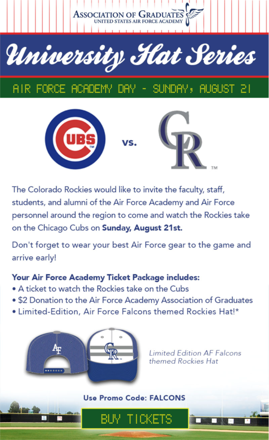 Air Force Academy Day At The Rockies!