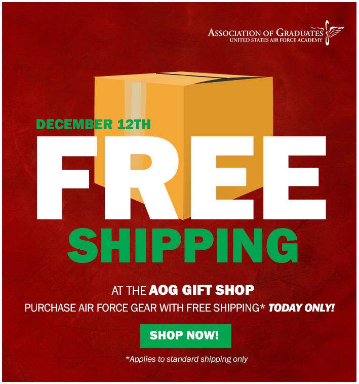 Today Only! Free Shipping Through The AOG Gift Shop!